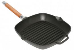 Чугунная сковорода гриль квадратная Биол 10241 (24 см)